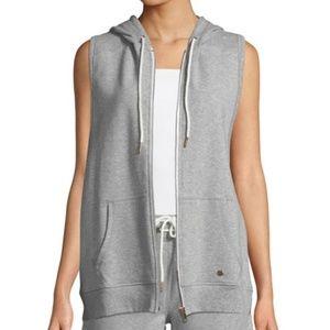 Nanette Lepore Women's Zip Front Sleeveless Hoodie